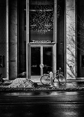 Nice Place To Have Breakfast (thelearningcurvedotca) Tags: briancarson canada canadian ontario thelearningcurvephotography toronto abstract architecture background bicycle bike blackwhite blackandwhite bloor building city concept design district door doorway downtown entrance environment experimental exterior facade geometric glass high icon landmark light lines metal metallic minimal mirror monochrome outdoors pattern perspective reflection steel store street structure texture urban wall window wwwthelearningcurveca absolutearchitecture bwartaward bwmaniacv2 bej blackwhitephotos blackandwhiteonly blogtophoto bwemotions cans2s discoveryphotos iamcanadian linescurves noiretblanc torontoist true2bw yourphototips