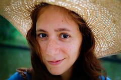 Jess - Bayard Cutting Arboretum (A Screaming Comes Across the Sky) Tags: nikon vintage f photomic ftn agfa vista nikkor ai 35mm film analog analogue outdoor foliage plant tree garden people hat