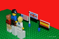 Medal ceremony (234/366) (Tas1927) Tags: 366the2016edition 3662016 day234366 21aug16 captainjack lego pirate minifigure minifig olympics flags