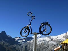 Mountain Bike (Jackie & Dennis) Tags: hannig mountainbike topstation saasfee scooterbike