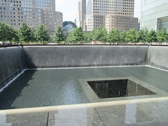 World Trade Center Memorial Fountains 2016 NYC 4352 (Brechtbug) Tags: 911 memorial fountain lower manhattan 2016 nyc footprint world trade center wtc ground zero september 11 2001 downtown new york city 2011 fdny public monument art fountains 08272016 foot print freedom tower today west skyscraper building buildings towers reflection pool water falls waterfalls wall walls pools tier tiered 15 years fifteen five