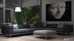 CGI Architecture studio: lounge. (Eloisa Conti) Tags: 3d 3dvisualization architecture artist architectural art architect cinema4d cgart cg cgi cgartist design furniture generalist gardening interior interiordesign lounge minimalistic minimal postproduction photomontage photographic render rendering style terrace visualization visualizer visualisation visualiser vray vertical