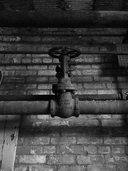 for what it's (wal)worth (1) (photography_isn't_terrorism) Tags: abandoned urbex explore hdr bw monochrome boiler boilerroom steamguage steampump valve neglected rust rusty rusted