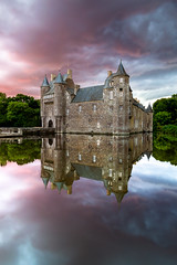 Chteau de Trecesson (Lollivier Stphane) Tags: chateau trecesson bretagne foret paipont campeneac france reflet explore light clouds nuage ciel tokina d3200 nisi v5