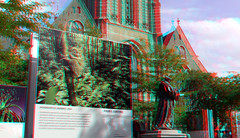Spookdiertje van Frans Lanting Grote Kerkplein Rotterdam 3D (wim hoppenbrouwers) Tags: grotekerkplein rotterdam 3d grote kerkplein grotekerkpleinrotterdam laurenkerk spookdiertje borneo franslanting picture