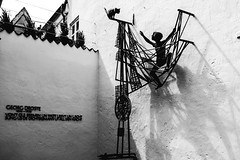 Ottjen Alldag (Philip Kocksch) Tags: ifttt 500px art plastic abstract architecture sculpture bremen free hanseatic city germany schnoorviertel ottjen alldag claus homfeld black white photographers tumblr original deutschland schnoor heinrich schmidtbarrien