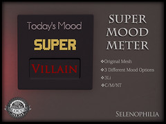 Super Mood Meter (Selene / Selenophilia) Tags: sl secondlife selenestarflare decorate decor furniture superhero super mood meter shelf shelves hex hexagon geometric original mesh