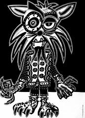 Cor de monstre 10 (Fernando Laq) Tags: monster monstruo monstre dibujo dibuix bn grises