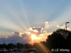 September 16, 2016 - Sunset brings crepuscular rays to Thornton. (LE Worley)