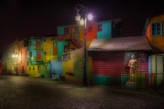 """Caminito"" at night (karinavera) Tags: travel nikond5300 night street longexposure colors caminito argentina laboca tourism buenosaires wallart urbanexploration road city alley"