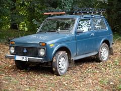 LADA Niva bleue (xavnco2) Tags: autos automobile cars classic car lada niva 4x4 blue bleue aumale normandie france