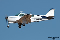 F-GBDR LMML 22-09-2016 (Burmarrad) Tags: airline private aircraft beech be33 35a33 debonair registration fgbdr cn ce740 lmml 22092016