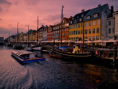 Sunset at Nyhavn (Jim Nix / Nomadic Pursuits) Tags: copenhagen denmark europe jimnix nomadicpursuits nyhavn photography sunset travel twlight