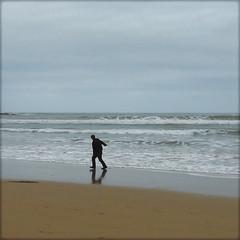 Facing the unknown, perhaps afraid... (Ametxa) Tags: espaa gijn wave asturias vague ola asturies xixn playadesanlorenzo marcantbrico