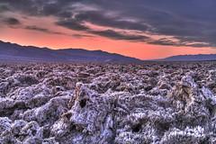Sunset at Devils Golfcoarse (Photography by Steven Frudak) Tags: california sunset sky clouds nationalpark deathvalley salttufa devilsgolfcoarse wwwstevenfrudakcom
