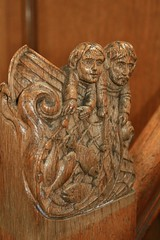 Chalmers Memorial Church - Port Seton (Kwozie) Tags: church carving pulpit artsandcrafts 3harboursartsfestival