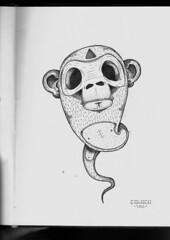 probando con el rapidograf 2 (.:CALACA:.) Tags: illustration sketch venezuela boceto calaca