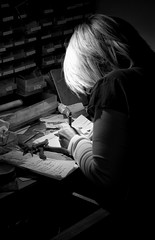 Dinky Design Studio (Kirst hard at work) (Animark Photography) Tags: silver foot design hand desk finger jewellery prints create digits kirsty dinky