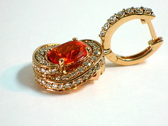Fire Opal by LeVian (theappraiserlady) Tags: orange diamonds fire earring ring opal amorphous gemstone fireopal diamantes joyas rosegold levian mexicanfireopal pavesetdiamonds theappraiserlady octoberbirthstone