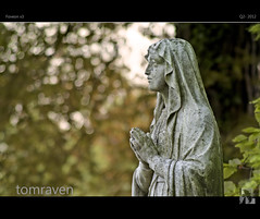 Prayer (tomraven) Tags: light cemetery graveyard statue southwales wales hope peace god you bokeh prayer newport devotion change hdr foveon x3 70300mmf456 sd15 parayers fbdg tomraven aravenimage flickrstruereflection1 q22012