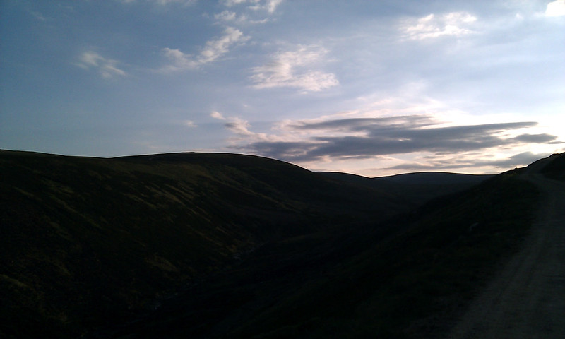 Twilight Hills above Glen Lethnot