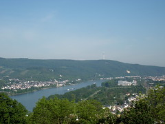 Braubach, Germany and Rhine river (corsi photo) Tags: castle germany rhineland rhineriver braubach marksburgfortress