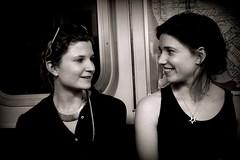 Girls Talk (PatMinNYC) Tags: nyc underground subway mta unionsquare patminnyc 40mmpentax28
