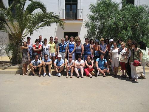 Profesores europeos visitan la finca Tomás Ferro