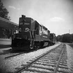Train in the sun (inetjoker) Tags: holga advance rewind foma200 advance2 rewind2 rad20120622 rewind3 rewind4 rewind5