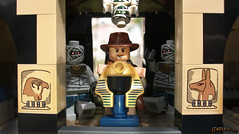 Indiana Jones in trouble again! (chrisofpie) Tags: chris lego legos minifig mummy indianajones minifigure drjones minifigures amsetra chrisofpie henryindianawaltonjonesjr