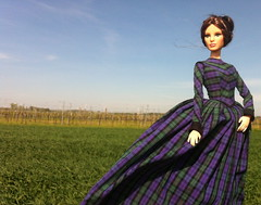 Plaid-Day-Dress 1845-55