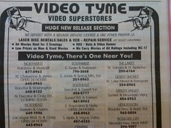 Video Tyme 1995 (frankasu03) Tags: las vegas video nevada ad rental retro 1995 stores locations tyme