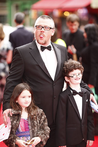 Stephen McCole with his children on the red carpet for the European premiere of Brave at the Festival Theatre