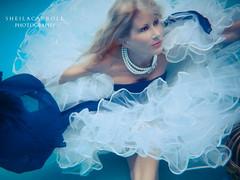 Underwater adventures!! (Sheila Carroll) Tags: reflection water fashion model underwater flowingfabric underwaterfashion photographyunderwater fashionphotographyunderwater