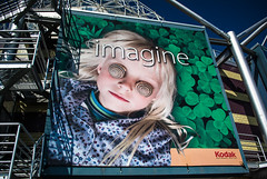 Imagine (soilse) Tags: city holiday canada film girl museum vancouver stairs train hair advertising moments child kodak banner bluesky exhibition hoarding journey brickwall frame blonde imagine 2008 snails share sciencemuseum exhibits modernbuilding kodakfilm blondegirl vancouvercity metalframework cloverleaves vancouversciencemuseum transcanadarailway kodaksharemomentssharelife sciencemuseumvancouver snailsovereyes