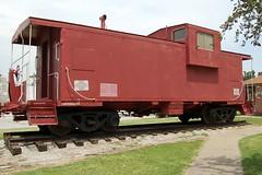 Missouri Pacific Railroad No. 13588, Missouri, Nevada (30,206) (EC Leatherberry) Tags: railroad display caboose missouri 1972 us54 vernoncounty missouripacificlines extendedcupola