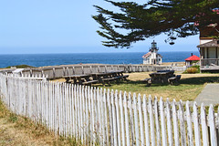 Point Cabrillo Light Station (Robem) Tags: lighthouse rural fence landscape fences pointcabrillo
