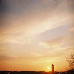 Sunset (May 17th) (_kaochan) Tags: sky 6x6 sora kushiro rolleiflexautomat kodakektar100