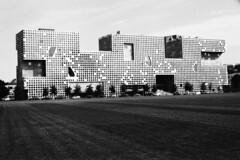 k (Kevin Tadge / Laura Lamp) Tags: white black film architecture modern analog 35mm hall nikon mit dorm architect 400 push simmons steven 135 800 ilford holl fg20