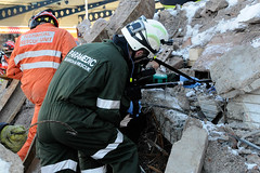 Double Whammy 2009 198 (IainDK) Tags: yorkshriehartparamedicsusingsearchcam imageall usar urban search rescue west yorkshire exercise double whammy whamy fire collapse multi agency xxx