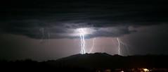 Arizona Monsoon (NicLeister) Tags: summer arizona sky storm mountains southwest phoenix rain weather night clouds landscape desert sony north american bolt thunderstorm lightning alpha sonoran a390 mazatzal