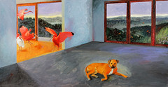 """""""Ibis,"""" 2012 (kipriver) Tags: dog ibis pacificnorthwest dogpainting thelittledoglaughed"""