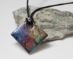 Pendant Square (Fimoli) Tags: pink blue red green rot rose yellow river square rouge gold blauw path rocky rosa bleu fimo gelb clay valley grn blau geel rood hanger pendant grown roze quadrat goud polymer viereck anhnger vierkant rechteck anhaenger polymeerklei