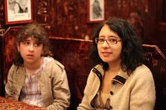 John's.  Is it the best pizza in NYC ? (Carlitos) Tags: nyc newyorkcity woman usa newyork sarah mujer unitedstates martha greenwichvillage johnspizzeria