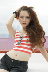 _DSC0009 (rickytanghkg) Tags: portrait woman sexy girl lady female asian hongkong boat model pretty harbour outdoor chinese young