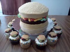 Hamburger Cake by Sandy B, San Antonio, TX. www.birthdaycakes4free.com