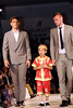 Ryan Tunnicliffe (R) and Frederic Veseli Manchester United football players pose on the catwalk during a Hublot Charity Dinner and Fashion Show event in aid of the MU Foundation at Shangri-La Hotel Shanghai, China
