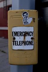 Emergency Telephone (julessm) Tags: street art clinton telephone hill emergency peeing