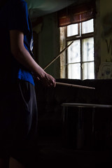 Drummer Boy (JuliusBrander) Tags: boy abandoned lowlight drum oldhouse drumsticks