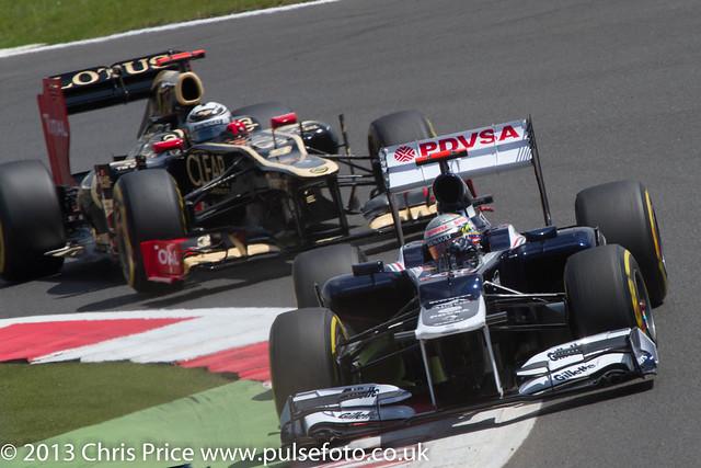 Pastor Maldonado and Kimi Raikkonen